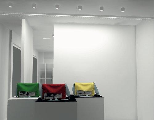 Progetto illuminotecnico negozio